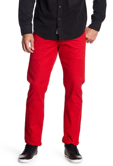 Imbracaminte Barbati Dockers Alpha Original Slim Tapered Khaki Tango Red Pant RED TWILL