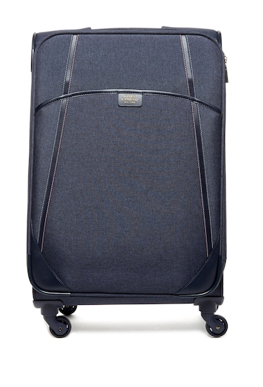 Genti Barbati Vince Camuto 24 Expandable Spinner Suitcase NIGHT SHADOW BLUE