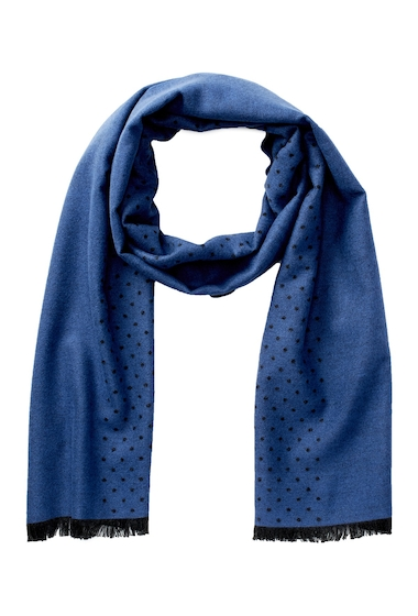 Accesorii Barbati Chelsey Imports Brushed Viscose Dotted Scarf BLU-CHR