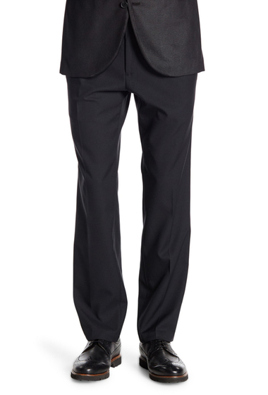 Imbracaminte Barbati Kenneth Cole Reaction Modern Stretch Fit Plain Front Trousers - 29-34 Inseam BLACK