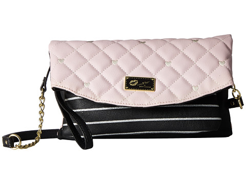 Genti Femei Luv Betsey by Betsey Johnson Avery Convertible Crossbody to Wristlet BlushBlack