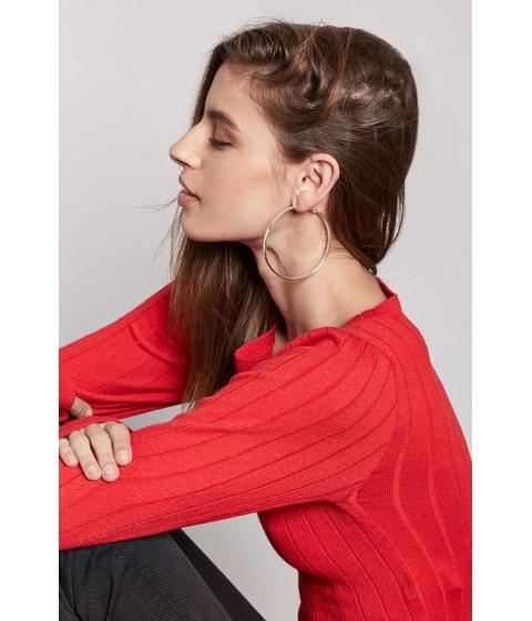 Bijuterii Femei Forever21 Metallic Hoop Earrings SILVER