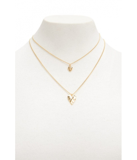 Bijuterii Femei Forever21 Heart Pendant Necklace Set GOLD