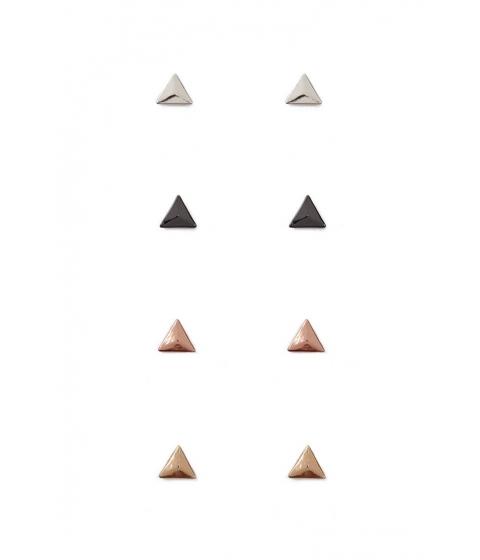 Bijuterii Femei Forever21 Triangle Stud Earring Set GOLDMULTI
