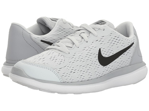 Incaltaminte Fete Nike Flex RN 2017 (Little Kid) Pure PlatinumBlackWolf GreyCool Grey