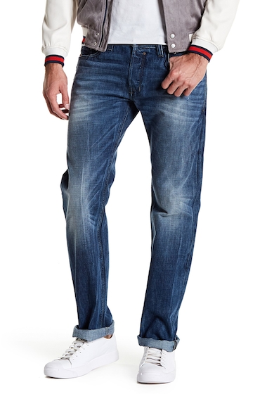 Imbracaminte Barbati Diesel Safado Distressed Slim Fit Straight Jeans - 32 Inseam DENIM