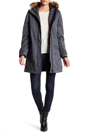 Imbracaminte Femei Joe Fresh Faux Fur Trim Hooded Parka JF BLACK
