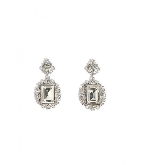 Bijuterii Femei Forever21 Cutout Rhinestone Drop Earrings SILVERCLEAR
