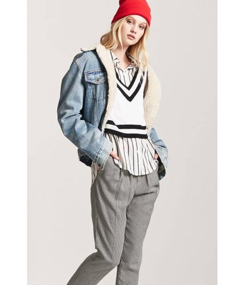 Imbracaminte Femei Forever21 Stripe V-Neckline Sweater CREAMBLACK