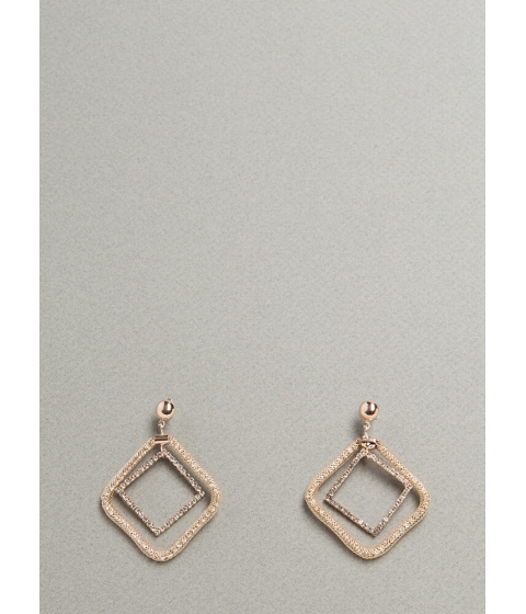 Bijuterii Femei CheapChic Diamond Cut Square Hoop Earrings Rosegold