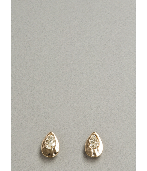 Bijuterii Femei CheapChic Filled Up Hammered Droplet Earrings Gold