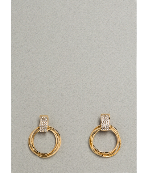 Bijuterii Femei CheapChic Game Of Hoops Jeweled Earrings Gold