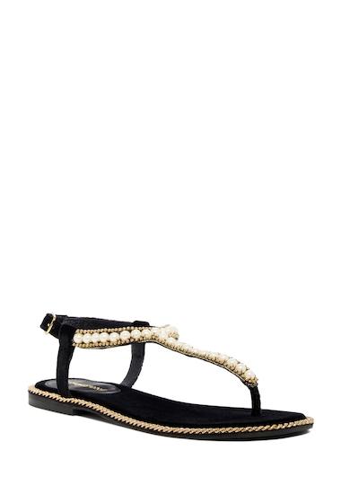 Incaltaminte Femei Jeffrey Campbell Kesha Embellished Velvet Thong Sandal BLVT GOLD
