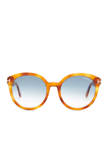 Ochelari Femei Tom Ford Womens Oversized Round Sunglasses BLNDHAV-BLUG