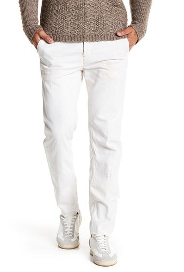 Imbracaminte Barbati Diesel Chino Slim Fit Distressed Trousers WHITE