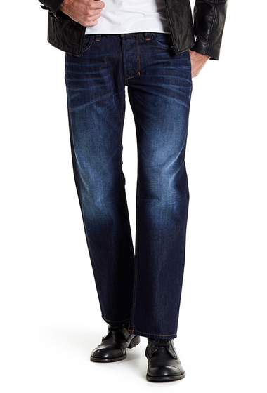 Imbracaminte Barbati Diesel Larkee Straight Leg Regular Fit Jeans DENIM