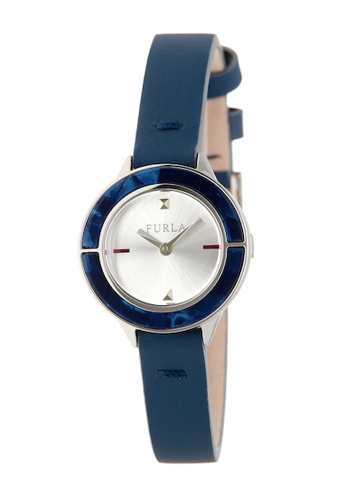 Ceasuri Femei Furla Womens Club Swap Case Leather Strap Watch BLUE