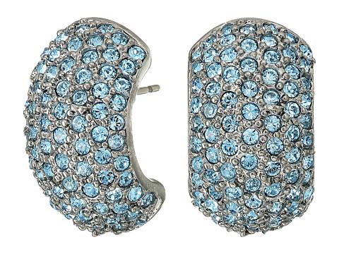 Bijuterii Femei Cole Haan Pave Half Hoop Earrings Black RhodiumAquamarine Swarovski