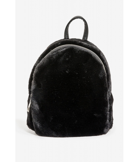 Genti Femei CheapChic Oliva Fur Mini Backpack Black