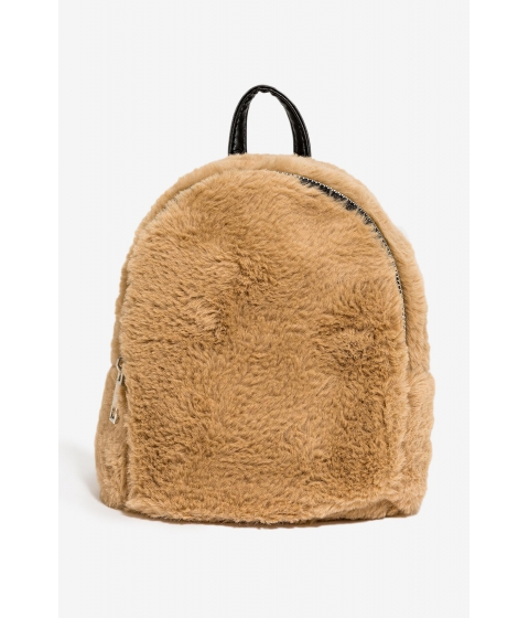 Genti Femei CheapChic Oliva Fur Mini Backpack TaupeKhaki