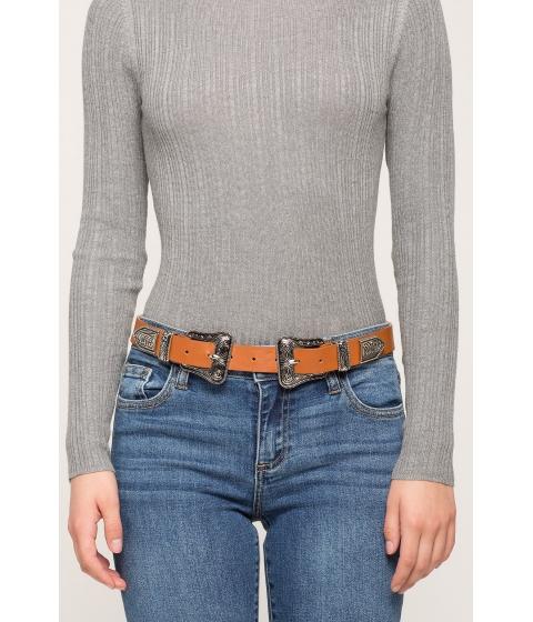 Accesorii Femei CheapChic Embellished Double Buckle Waist Belt TanStone