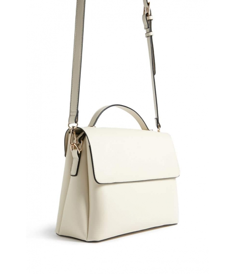 Genti Femei Forever21 Faux Leather Satchel CREAM
