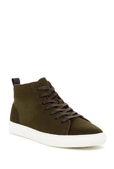 Incaltaminte Barbati Kenneth Cole Reaction High-Top Knit Sneaker OLIVE