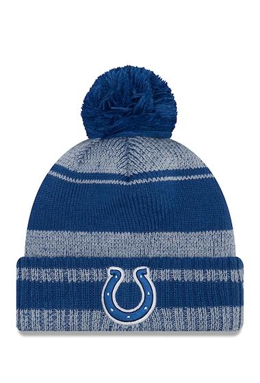 Accesorii Barbati New Era Cap NFL Indiana Colts Glacial Pom Knit Beanie BLUE