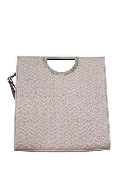 Genti Femei T-Shirt Jeans Quilted Tote Bag BLUSH