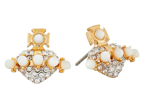 Bijuterii Femei Marc Jacobs Oona Bas Relief Earrings White MopCrystal