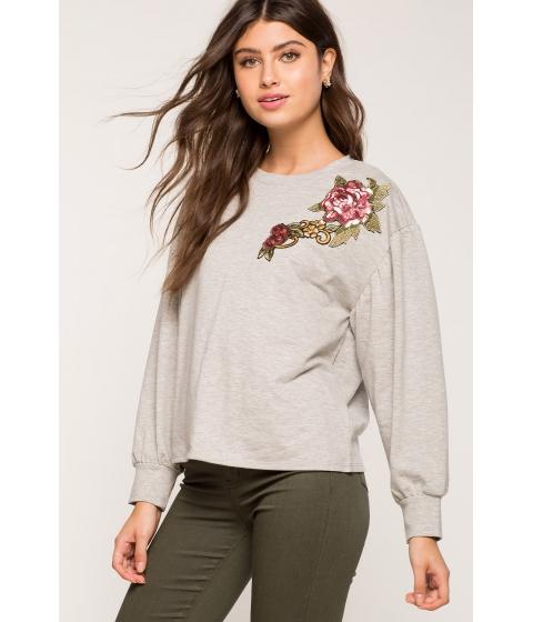 Imbracaminte Femei CheapChic Sequin Applique Sweatshirt Gray