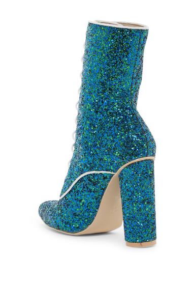 Incaltaminte Femei Cape Robbin Paw Glitter Lace-Up Boot BLUE