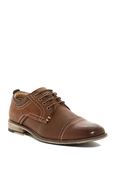 Incaltaminte Barbati Steve Madden Kolton Cap Toe Lace-Up Shoe DARK TAN