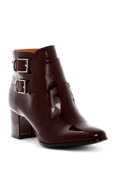 Incaltaminte Femei Calvin Klein Florine Patent Leather Monk Strap Boot OXBLOOD