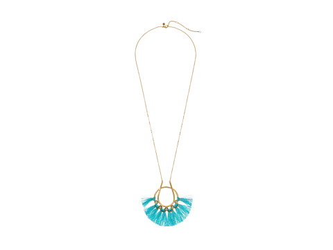 Bijuterii Femei Rebecca Minkoff Utopia Tassel Pendant Necklace TurquoiseMilky White StonesTurquoise Tassels