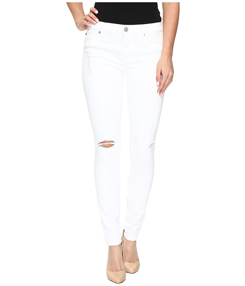 Imbracaminte Femei Hudson Nico Mid-Rise Super Skinny in StrifeWhite Distress StrifeWhite Distress