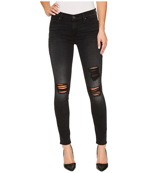 Imbracaminte Femei 7 For All Mankind The Ankle Skinny w Destroy in Aged Onyx Aged Onyx