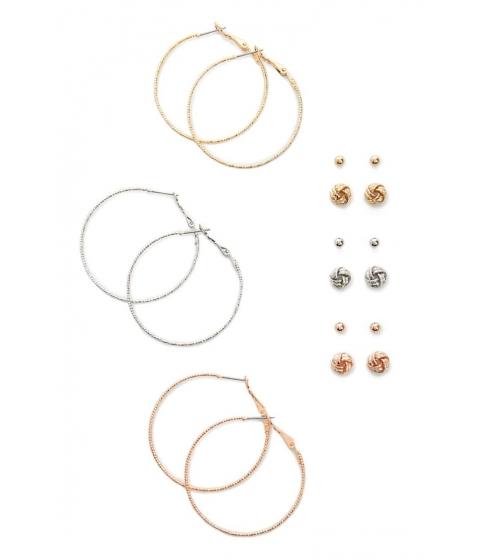 Bijuterii Femei Forever21 Hoop Stud Earring Set GOLDSILVER
