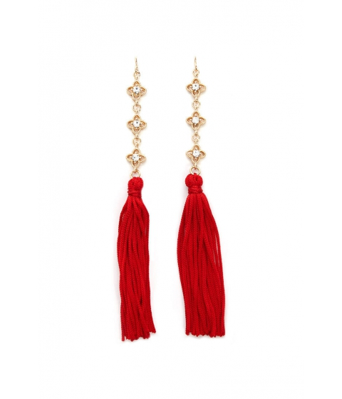 Bijuterii Femei Forever21 Tassel Drop Earrings GOLDRED