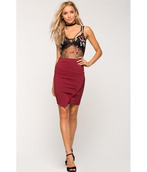 Imbracaminte Femei CheapChic Necessary Origami Skirt WineBurgundy