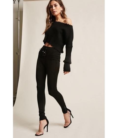 Imbracaminte Femei Forever21 Active Lace-Up Leggings BLACK