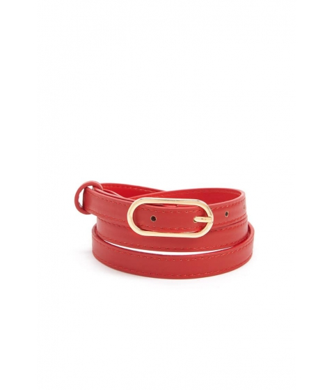 Accesorii Femei Forever21 Faux Leather Skinny Belt RED