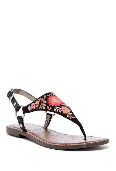 Incaltaminte Femei Sam Edelman Greta Embroidered Sandal BLACK