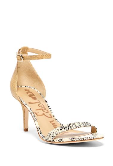Incaltaminte Femei Sam Edelman Patti Contrast Ankle Strap Sandal SNK PRT RAFF