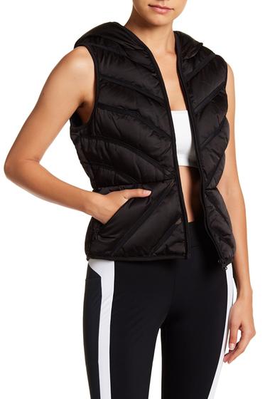 Imbracaminte Femei Blanc Noir Mesh Inset Puffer Vest BLACK