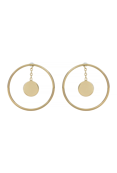 Bijuterii Femei Botkier Open Circle Drop Disc Earrings GOLD