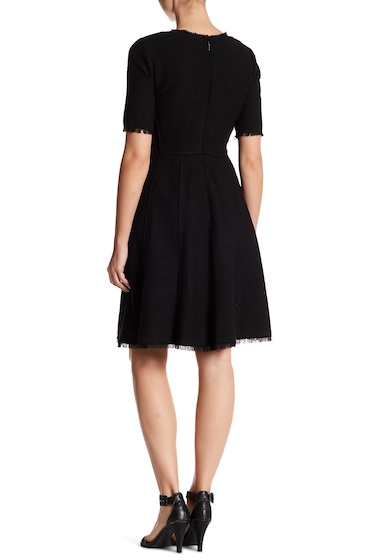 Imbracaminte Femei Rebecca Taylor Raw Edge Boucle Dress BLACKCOMBO