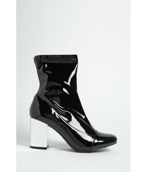 Incaltaminte Femei Forever21 Metallic Heel Ankle Boots BLACKSILVER