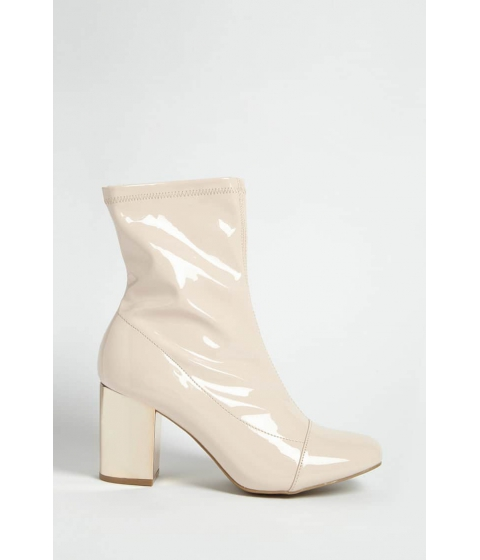 Incaltaminte Femei Forever21 Metallic Heel Ankle Boots BLUSHROSE GOLD