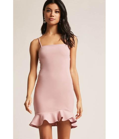 Imbracaminte Femei Forever21 Ruffle Cami Square Neck Dress MAUVE